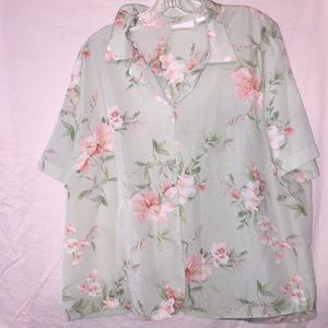 Alfred Dunner size 20 W Button Down Blouse